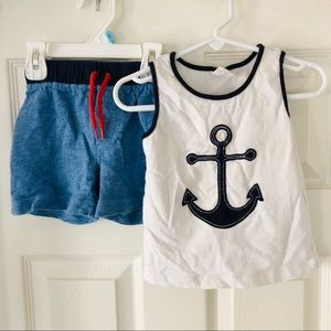 Two-piece 24 month anchor outfit